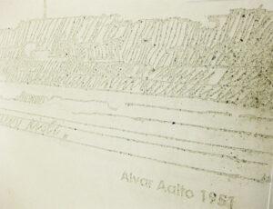 Alvar Aalto -taideteos betonissa