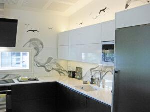 Seinään maalattua taidetta