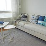 Kokoelma kauniita tyynyjä